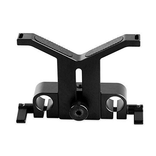 SMALLRIG レンズサポート レンズサポートプラケット レンズサポートシステム 交換レンズアクセサリ 直径50mm-140mmレンズ対応 15mmロッドクランプ装備-1087