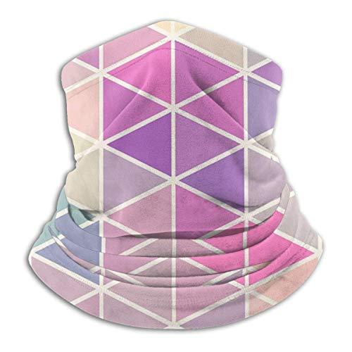 ShiHaiYunBai Tour de Cou Cagoule Microfibre Chapeaux Tube Masque Visage, Fleece Neck Warmer - Triangle Geometry Neck Gaiter Tube, Bandana, Headband & Beanie