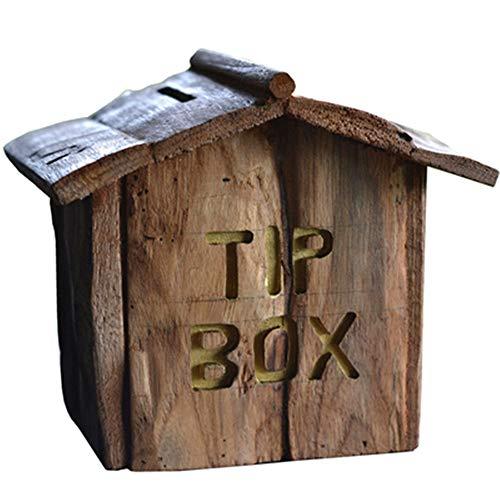 Mailbox-voorzetbox creatieve klassieke houten buitenste mailbox mailbox mailbox in de open lucht moderne verticale wanddecoratie voor huis en kantoor mailbox Engels muur home decoratie buiten