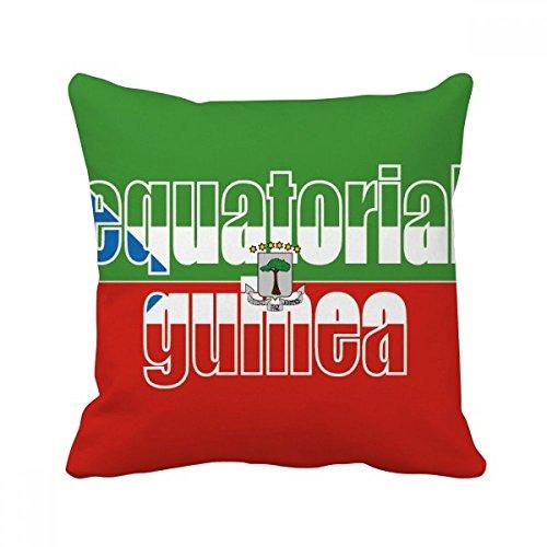 DIYthinker Äquatorial-Guinea Flagge Name Platz Dekokissen Kissenbezug Startseite Dekor-Geschenk 40 x 40cm (Es gibt einige Messfehler) Mehrfarbig
