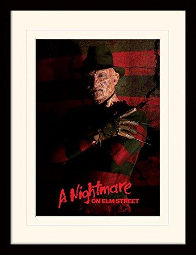 1art1 Nightmare On Elm Street - Freddy Krueger Gerahmtes Bild Mit Edlem Passepartout | Wand-Bilder | Kunstdruck Poster Im Bilderrahmen 40 x 30 cm