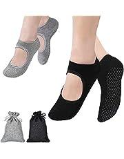 FORMIZON 2 paar yoga sokken, dames & heren antislip grip sokken voor yoga, vrouwen yoga pilates ballet dans workout fitness