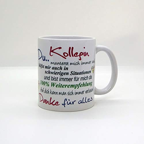 Kaffeebecher ~ Tasse - Kollegin ~ DU~ Weihnachten Geschenk