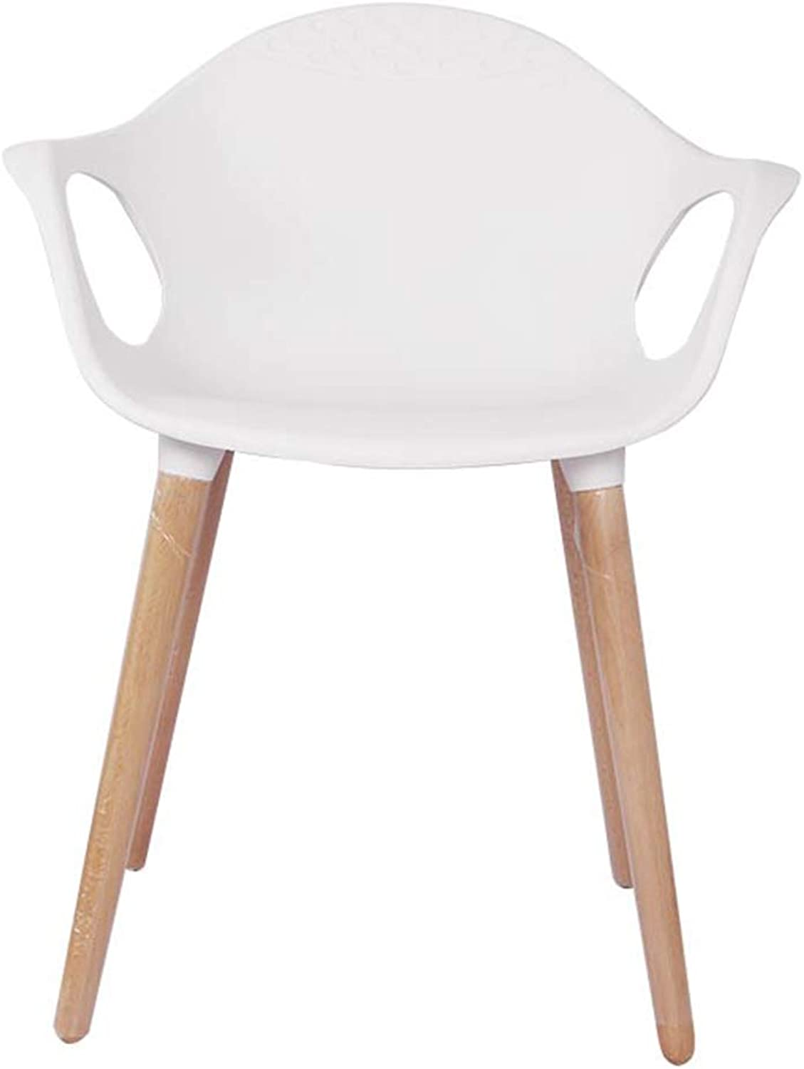 LYXPUZI Modern Leisure Simple Chair Casual Solid Wood Dining Chair (color   White)