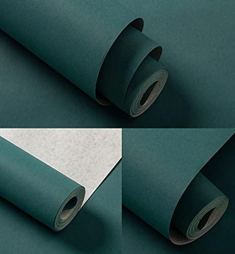 Papel Pintado No Tejido 3D Seda nórdica americana moderna color puro Azul eléctrico Papel de Pared Impermeable para Sala de...
