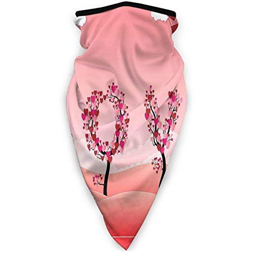 AEMAPE Love Balloon Flowers Bandanas Pañuelo Facial Cuello Polaina Pañuelo Facial Diadema Bufanda Polvo para Hombres Mujeres Deporte al Aire Libre