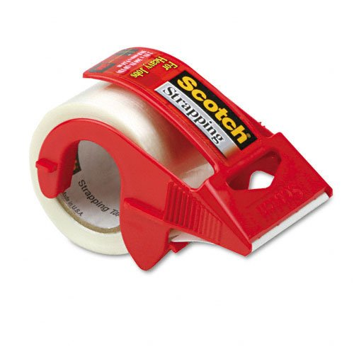 Scotch : Strapping Tape & Dispenser, 2' x 10 Yards, 1-1/2' Core -:- Sold as 2 Packs of - 1 - / - Total of 2 Each