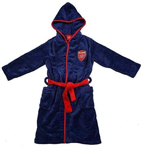 Jungen Offiziell Arsenal FC Gunners mit Kapuze Bademantel Bademantel Größen von 3 bis 12 Jahre - Blau, 3-4 Years