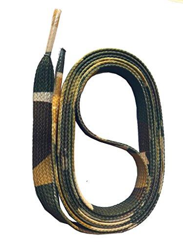SNORS bedruckte Schnürsenkel ARMY CAMOUFLAGE 140cm, 10mm, Schuhbänder mit Motiv, reißfest, waschbar, Muster Flachsenkel Made in Germany