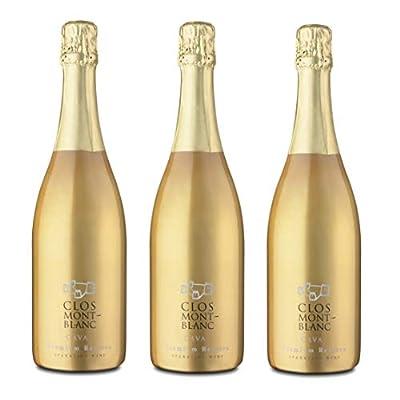 CLOS MONTBLANC Cava Brut Nature Reserva - Spanish Sparkling Wine 75cl, Case of 3