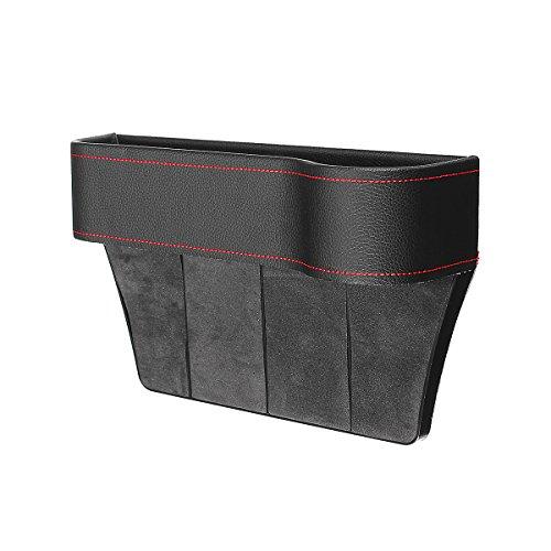 Hitommy Aufbewahrungsbox für Autositz, PU-Leder, rechte Seite rot