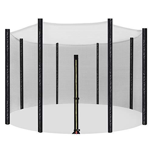SONGMICS Sicherheitsnetz für Trampolin, Ø 366 cm, Ersatznetz für 8 Stangen, rundes Schutznetz für Gartentrampolin STN12FT