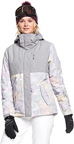 Roxy Snow Women's Jetty Block Jacket, Micro chip Edelweiss, M