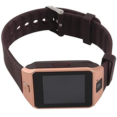 Reloj de teléfono celular DealMux DZ09 SmartWatch para teléfono inteligente Android con cámara SIM dorado