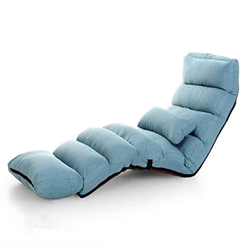 YOUZHIXUAN Productos de Calidad Sofá Cama Moderno Salón Sala de Estar Silla reclinable Sofá Plegable Ajustable for Dormir (Azul) (Color : Blue)
