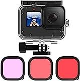 Kiowon Go Pro 9 用 ダイビングハウジング Go Pro Hero9 専用 50m 防水ケース+ 3タイプレンズフィルター(レッド+マゼンタ+ピンク) 水中撮影用アクセサリー ゴープロヒーロー 9 Blackに対応アクセサリー