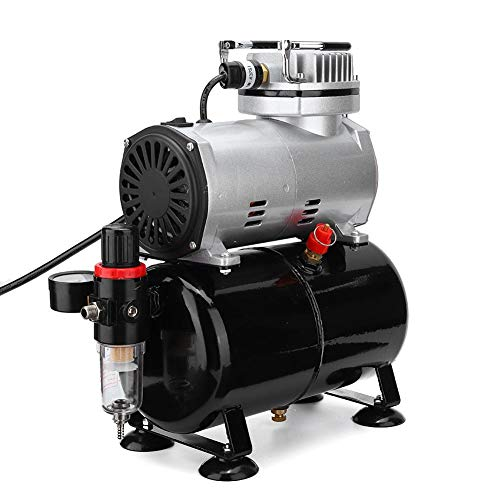 1 5HP Mini Compressori d aria per pompe ad aria Aerografo a spruzzo Modello a singola azione Pistola per aerografo Vernice Riparazione Bellezza Pittura Modello per Trucco Arte Pittura per unghie