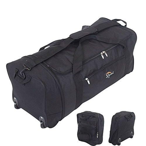 Bolso plegable con ruedas, 76,2 cm, liviano, perfecto para viajes