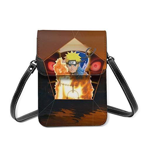 Naru-to Uzumaki Naru-to Cell Phone Purse Small Crossbody Bag Women Leather Cell Phone Pouch Purse Shoulder Bag with Removable Shoulder Strap,Wallet with Credit Card Slots