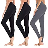 High Waisted Leggings for Women - Soft Athletic Tummy Control Pants for Running Cycling Yoga Workout - Reg & Plus Size