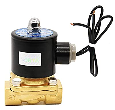 """1/2"""" Brass Electric Solenoid Valve,110v Ac Brass Electric Solenoid Valve for Water Air Gas Fuel Oil by OEN"""