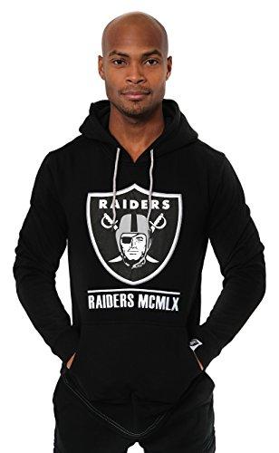Ultra Game NFL Las Vegas Raiders Mens Embroidered Fleece Hoodie Pullover Sweatshirt, Team Color, Small