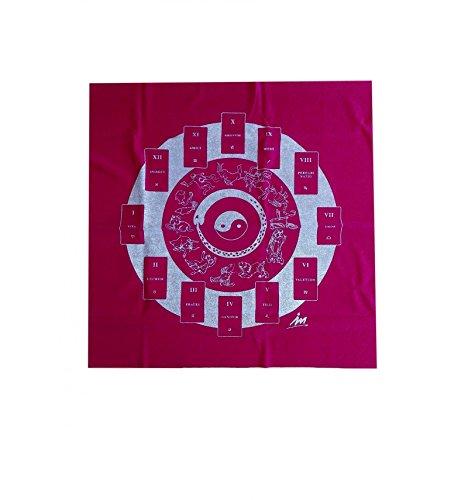 WLM Tapis de tirage de cartomancie Rouge Yin & Yang