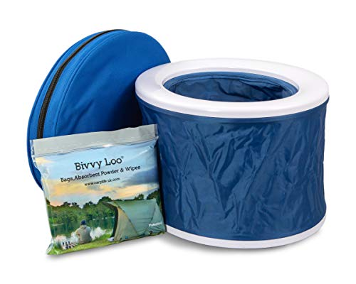 Bivvy Loo Blue Portable Toilet - Camping Toilet - Festival Toilet - Fishing...