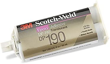 3M Scotch-Weld DP190 Epoxy Adhesive, 1.7 fl oz Container, Translucent