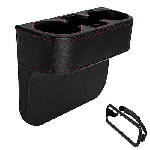 Tonyzhou Co.,ltd Autositz-Spaltfüller Verbesserte Leder-Aufbewahrungsbox Konsolenseite Verschiedene Getränke-Aufbewahrungsbox sowie EIN Auto-Gewebe-Clip