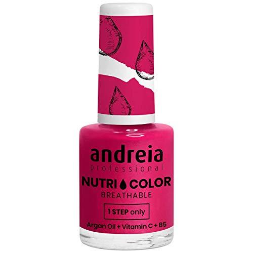 Andreia Professional NutriColor - Esmalte de uñas vegano transpirable - Color NC22 Pink Cherry - 10.5ml