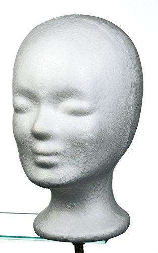 Comair 7000825 Schaumstoffkopf, 25.5 cm, weiß