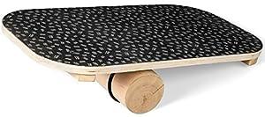 immagine di SportPlus Balance Board in Legno con Rullo, Superficie Antiscivolo, Ideale per l'Allenamento dell'Equilibrio, Tavola Propriocettiva, Tavola di Bilanciamento, Peso Utente Max 100 kg