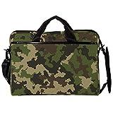 TIZORAX Laptop Messenger Borse a tracolla Camouflage verde militare Custodia protettiva per notebook Borsa da 15-15,4 pollici