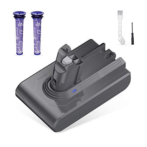 Powerextra - Batería de repuesto para V6 Series, DC59 DC58 DC61 DC72 DC74 SV03 SV04 SV06 SV07, V6 con 1 pincel, 1 destornillador, 2 filtros