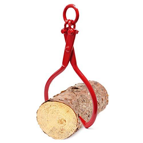 Wiltec Forstzange für Baumstämme bis Ø50,8cm, Zugkraft 1100kg, 2 Klemmdorne, aus Stahl