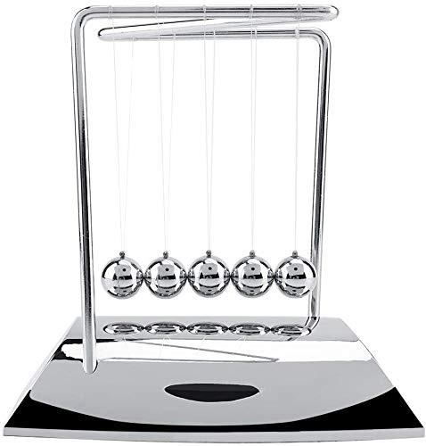 FTVOGUE Newton's Cradle Balance Steel Balls Physics Science Pendulum Steel Ball Escritorio Adornos Juguete