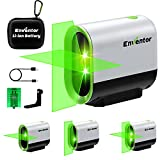 Laser Level Tool, ENVENTOR Pulse Mode USB rechargeable Lazer Leveler Tool for Picture Hanging,Indoor Outdoor,rotatable 360° magnetic green laser level self-leveling cross-line laser