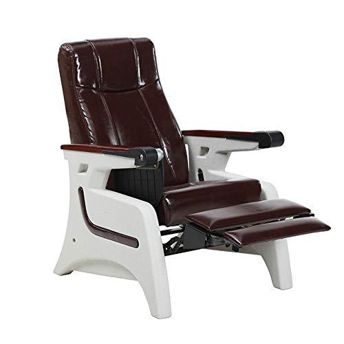 WSN Infusionsstuhl, Verstellbarer Einzelsitz aus Leder, der flach liegen kann, für ambulante Krankenhauspatienten