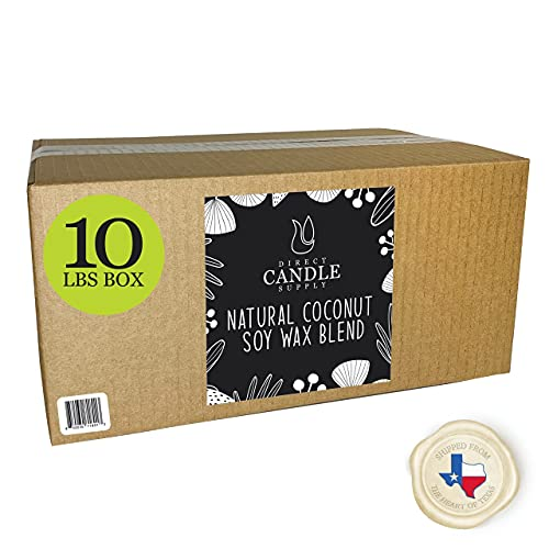 Coconut Soy Wax Blend Candle Making - 10 & 20 lb. Tropical Creamy Blend for High Load Fragrance Formulation - No additives (10 lb)