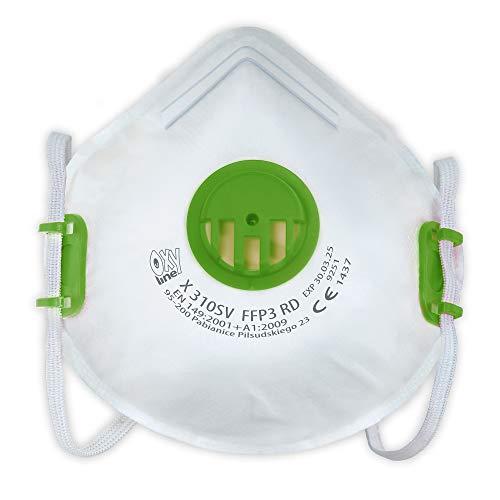 FFP3 Atemschutzmaske (Wiederverwendbar) mit Ventil Safety-Store, ML Premium