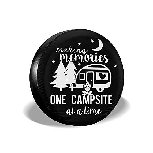 Suminla-Home Happy Camper - Cubierta de repuesto para neumáticos a prueba de polvo para remolque, RV, SUV, camión, caravana o remolque, accesorios