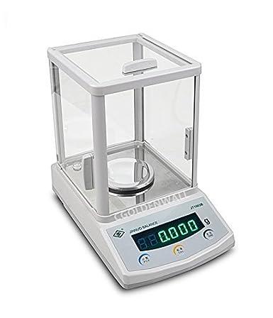 CGOLDENWALL Serie JTB Balanza Analítica de Laboratorio Electrónica LCD Digital de Alta Precisión Balance 110V-240V 0.001g Lectura 100g/200g/300g, 0.001, 300g, 1