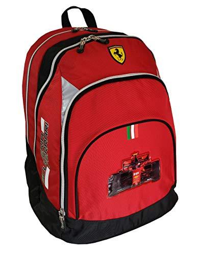 Scuderia Ferrari Zaino Scuola Organizzato 3 Cerniere Rosso - 2020/21