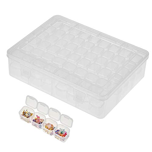 104 Pcs Diamond Bead Painting Storage Case, Removable Clear Plastic Painting Drill Organizer for Nail Art Rhinestone Jewelry DIY Diamond Cross Stitch Tools and Other Small Items