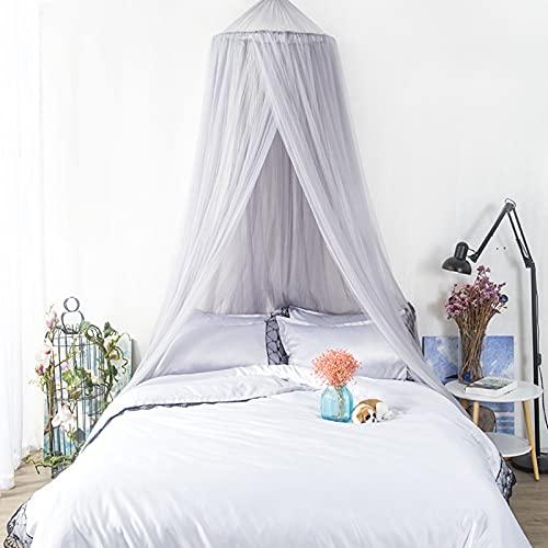 Mosquitera de malla para cama, fácil instalación, para colgar en la cama, toldo blanco para cama doble o individual, ideal para decoración de dormitorio, viajes, camping, color blanco