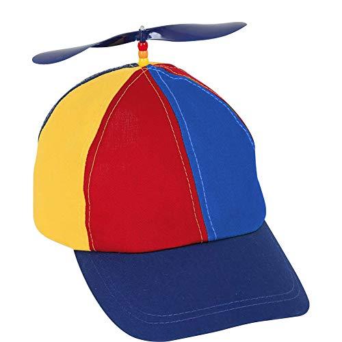 GOODGDN Propeller mütze Helikopter Cap Baseball Hubschrauber Kappe Bunte Mütze für Jungen und Mädchen| Baseball Cap für Erwachsene & Kinder - Größenverstellbar