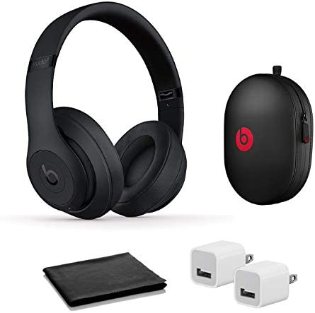 Beats Studio3 Wireless Noise Cancelling On Ear Headphones Matte Black with USB Adapter product image