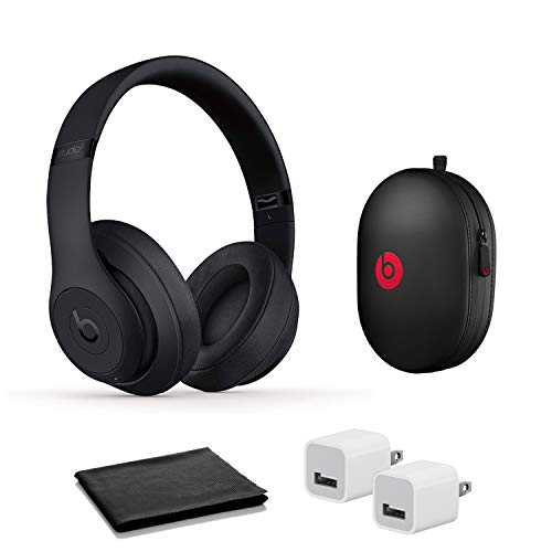 Beats Studio3 Wireless Noise Cancelling On-Ear Headphones - Matte Black with USB Adapter