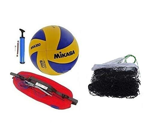 QLS Volleyball Set Spielfeldmarkierung für Beachvolleyball Netz Linien Ball Mikasa